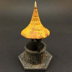 covered-well1-thingy.jpg Download free STL file Covered Well for 28mm miniatures gaming • 3D printable model, Brease