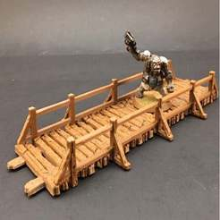 bridges1.jpg Download free STL file Wooden Bridges for 28mm Miniatures Gaming • 3D printing design, Brease
