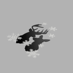 1.png Download STL file  Reindeers and fakes • Template to 3D print, afk620