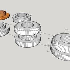 Sans titre.jpg Download STL file Bearing plug 12/13 mm int 20 ext Cable gland • 3D printer template, Amesis_Project