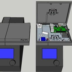 Download free 3D printing models PSPI Case Rapberry Pi Case Raspberry, Amesis_Project