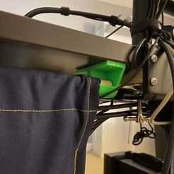 """IMG_0381.jpeg Download free STL file 5/8"""" Rod Holder for Under-Desk Cable Management • 3D printer design, LilMikey"""
