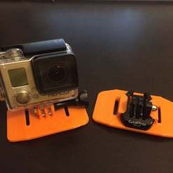 Télécharger fichier STL gratuit Supports de sangle GoPro de base • Objet imprimable en 3D, LilMikey