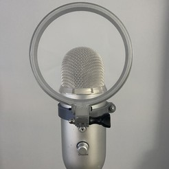 Download free 3D printing templates Blue Yeti Pop Filter, LilMikey
