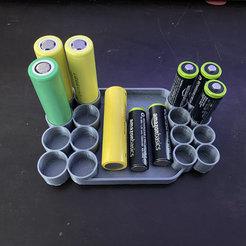 Descargar diseños 3D gratis Bandeja de baterías AA / 18650, LilMikey