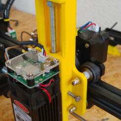 support_tête1.png Download free STL file ORTUR LASER MASTER2 Z height adjuster and wedge • 3D printer model, CRABE31350