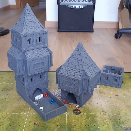Download STL file Fantasy dice tower • 3D printer object, u25