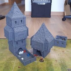 dice_tower_01.jpg Download STL file Fantasy dice tower • 3D printer object, u25