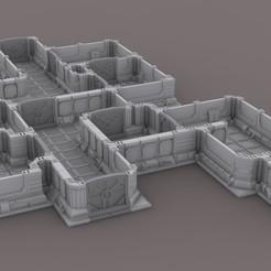 scenary_01.jpg Descargar archivo STL gratis Escenario espacial modular para juegos de guerra - Escenario espacial modular para juegos de guerra • Plan para imprimir en 3D, u25
