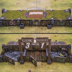 A.jpg Download STL file Fantasy Football dugout - Bloodgout • 3D print design, u25
