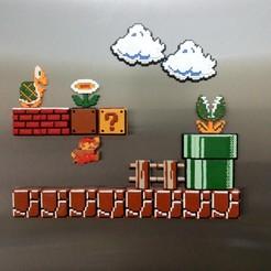 Mario_06.jpg Télécharger fichier STL gratuit Les tuiles de Mario Bros • Modèle pour imprimante 3D, u25