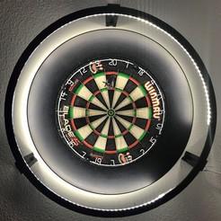 IMG_1772[595.jpg Download STL file Dartboard LED-Light Surround (Darts Ring / Dart Board) • 3D printable design, waayne17