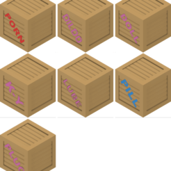 Imprimir en 3D gratis Juego de cajas de madera 3 (NSFW), michelj