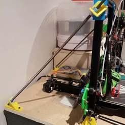Download free STL file TEVO Tarantula Braces for 5/16 threaded rods • 3D print design, michelj