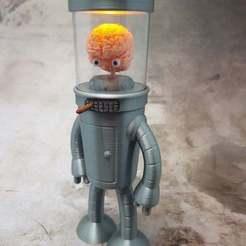 FULL1.jpg Download free STL file A Brain for Bender (Futurama) • 3D printing model, michelj