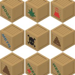 Download free 3D model Wooden Crates set 2, michelj
