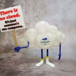 Cloud_Guy_-_No_Cloud.jpg Download free STL file Cloud Guy (from Trolls Movie) • Design to 3D print, michelj