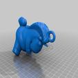 Download free 3D printer designs Fluffy The Unicorn keychain, michelj