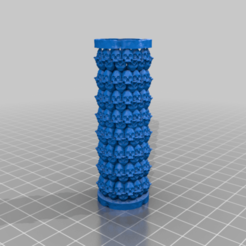 Download free 3D printing files Skull Pillar Candle Holder, AgentPothead