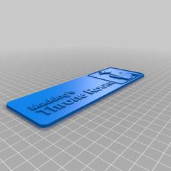 Descargar archivos 3D gratis Trono de Maddog, AgentPothead