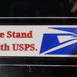 Untitled.jpg Télécharger fichier STL gratuit Nous soutenons le signe de l'USPS • Modèle pour imprimante 3D, AgentPothead