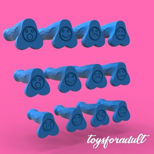 Download 3D printing models Emotional dildo, toys4adult
