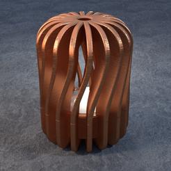 TeaC-18-Pill-Twist-Lg.png Télécharger fichier STL TeaC | Porte-bougie à thé | Twist Top (18) *Lg • Design à imprimer en 3D, DaveMans