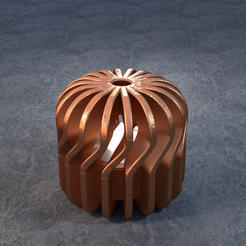 TeaC-18-Pill-Twist-Sm.png Download STL file TeaC | Tea Light Holder | Twist Top (18) *Sm • 3D printable model, DaveMans