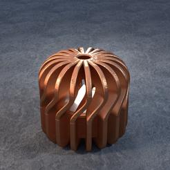 TeaC-18-Pill-Twist-Sm.png Télécharger fichier STL TeaC | Porte-bougie à thé | Twist Top (18) *Sm • Design pour impression 3D, DaveMans