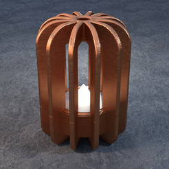 TeaC-12-Pill-Fins-Lg.png Download STL file TeaC | Tea Light Holder | Fins Top (12) *Lg • 3D print design, DaveMans