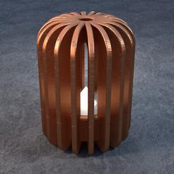TeaC-18-Pill-Fins-Lg.png Télécharger fichier STL TeaC | Porte-bougie à thé | Fin Top (18) *Lg • Plan pour imprimante 3D, DaveMans