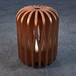 TeaC-18-Pill-Weave-Lg.png Télécharger fichier STL TeaC | Porte-bougie à thé | Tissu Top (18) *Lg • Design pour impression 3D, DaveMans