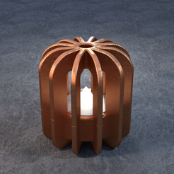 TeaC-12-Pill-Fins-Md.png Download STL file TeaC | Tea Light Holder | Fins Top (12) *Md • 3D printable model, DaveMans