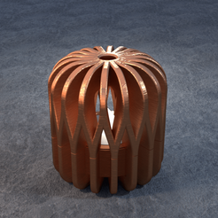 TeaC-18-Pill-Weave-Md.png Download STL file TeaC | Tea Light Holder | Weave Top (18) *Md • 3D printable template, DaveMans