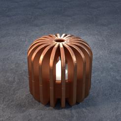 TeaC-18-Ball-Fins-Sm.png Télécharger fichier STL TeaC | Porte-bougie à thé | Fin Top (18) *Sm • Design imprimable en 3D, DaveMans