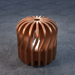 TeaC-18-Pill-Twist-Md.png Download STL file TeaC | Tea Light Holder | Twist Top (18) *Md • 3D printable design, DaveMans