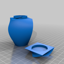 lofted_angled_container.png Download free STL file Lofted Container • Design to 3D print, 3degon