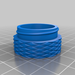 coiled_container_bot.png Download free STL file Small Coiled Container • 3D printing template, 3degon