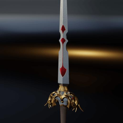 Download free 3D printing designs Save the Queen sword - Final Fantasy 9, Fanaatti