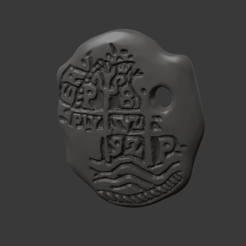 Download free 3D printing files Pirate medallion, Fanaatti