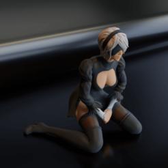 Descargar Modelos 3D para imprimir gratis Nier Automata 2B, Fanaatti