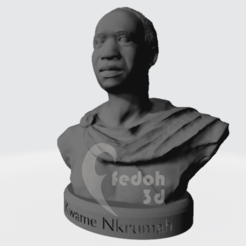 Download STL Kwame Nkrumah bust, fedoh