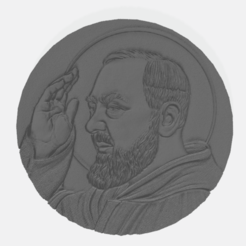 padre pio-coin.png Download STL file Padre Pio Coin • 3D print design, fedoh
