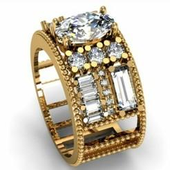 _20200324_191417.JPG Download STL file Diamond Ring • 3D printing template, NOUMAN1