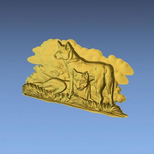 3.jpg Download free STL file AUSTRALIAN DINGOS 3D STL FILE • 3D printer design, ALPHA_MENA