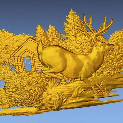 7.jpg Download free STL file 3D STL SCARED DEER • 3D print model, ALPHA_MENA