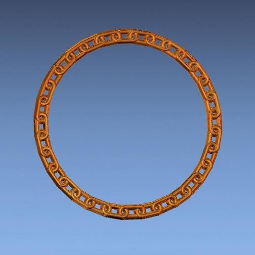 6.jpg Download free STL file chain border 3d stl file • 3D printing design, ALPHA_MENA