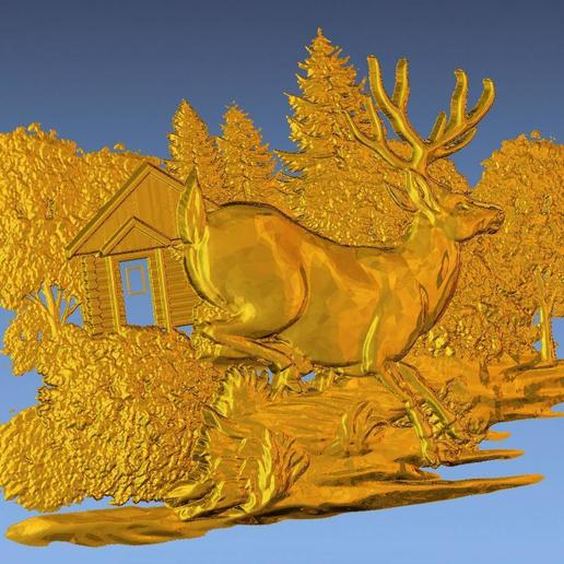 3.jpg Download free STL file 3D STL SCARED DEER • 3D print model, ALPHA_MENA