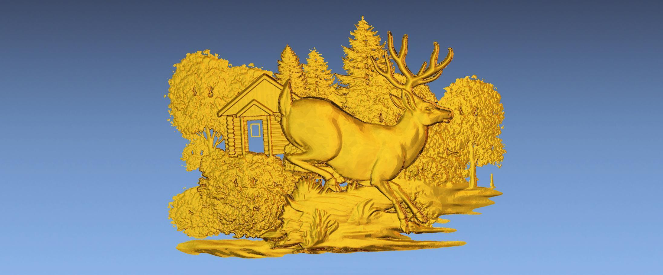 2.jpg Download free STL file 3D STL SCARED DEER • 3D print model, ALPHA_MENA
