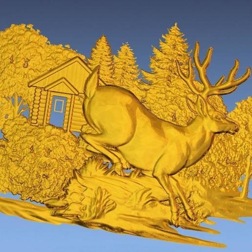 1.jpg Download free STL file 3D STL SCARED DEER • 3D print model, ALPHA_MENA